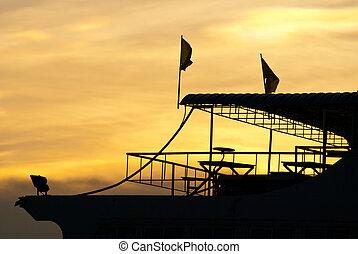 twilight ferry boat - twilight samui thailand ferry boat...