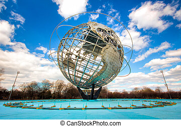 Unisphere Earth - Unisphere Globe relic from 1964 Worlds...