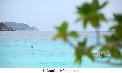 Seascape. - Similan Islands on Andaman sea. Rack focus.