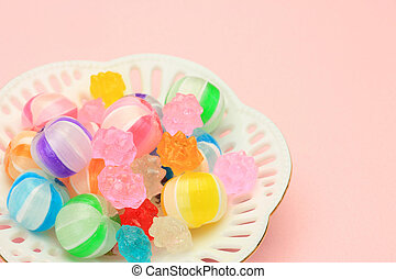 colorful candy - This is Japanese candy. These candy is...
