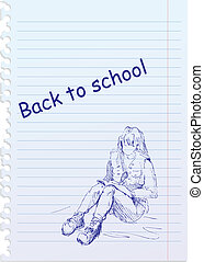 back to school illustration with ha