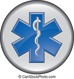 Rescue Paramedic Medical Button is an illustration of a...