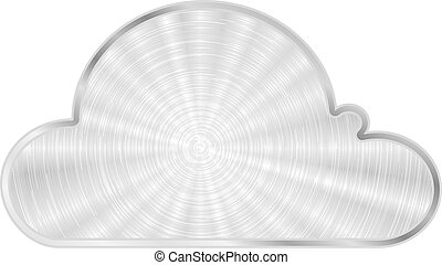 Vector cloud metal icon