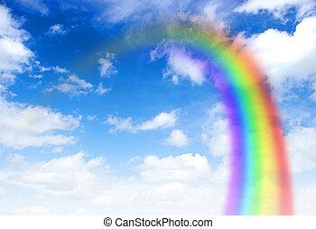 rainbow - A bright rainbow in the sky