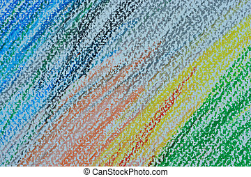 Abstract colorful pencil color hand drawing for background