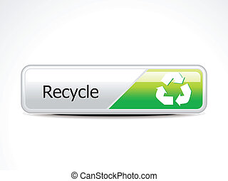 abstract recycle web  button vector