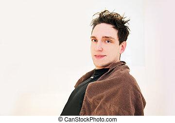 man hair cut before the