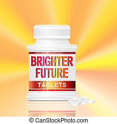 Brighter future concept. - Illustration depicting a single...