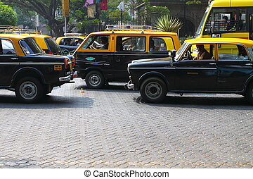 Typical taxi in Mumbai.