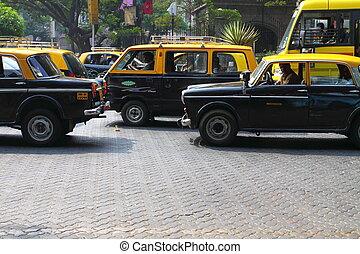 típico, táxi, Mumbai