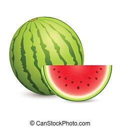 Juicy Water Melon - illustration of juicy water melon kept...