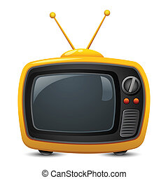 Television - illustration of television on isolated white...
