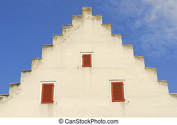 Schaffhausen - front of a medieval house - Switzerland,...