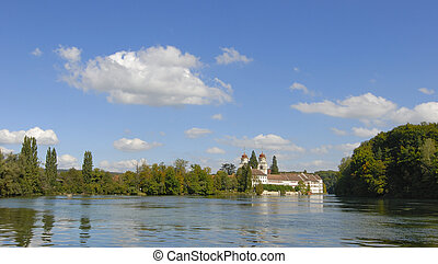 Rheinau - the monastic church on the rhine river - Kanton...