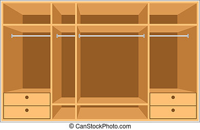 Wardrobe room. Furniture - Vector illustration, color full