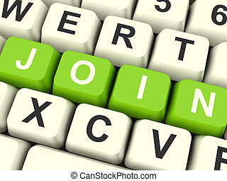 Join Computer Keys Showing Subscription And Registration -...
