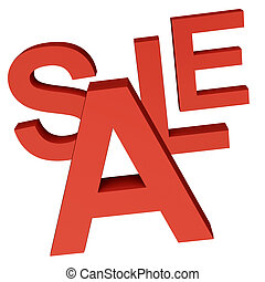 Sale Word As Symbol for Discounts And Promotions - Sale Word...