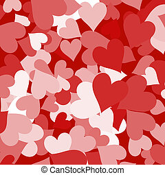 Paper Hearts Red Shapes Background Showing Love Romance And Valentines