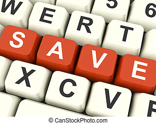 Save Computer Keys As Symbol For Discounts Or Promotions