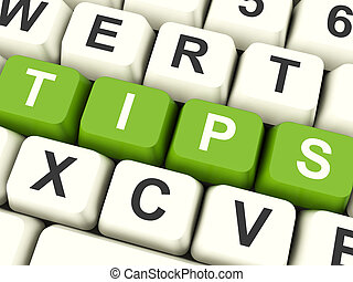Tips Computer Keys Showing Hints And Guidance - Tips...