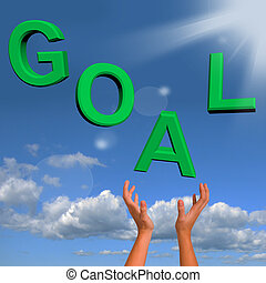 Goals Letters Falling Showing Objectives Hope And Future