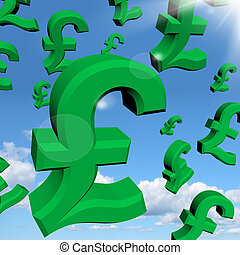 Pound Signs As Symbol For Money Or Wealthy