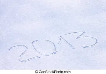 new year 2013 snowy background