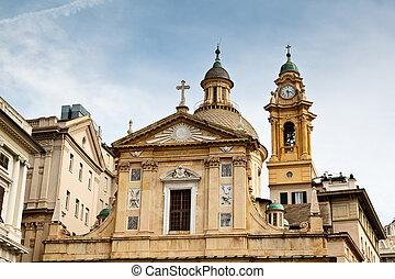 Church of Saint Andrew (Andrea) in Genoa, Italy