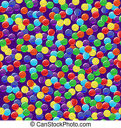 Delicious colorful candies seamless background