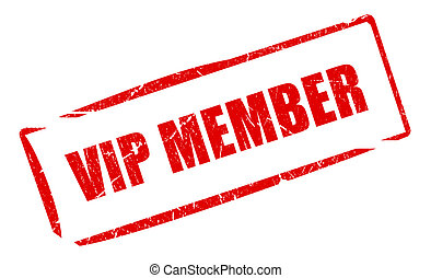 Vip member stamp illustration