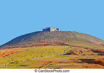 Santa Barbara of Guanapay Castle at Teguise, Lanzarote....