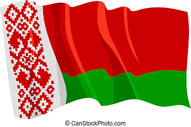 Political waving flag of Belarus