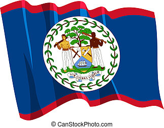 Political waving flag of Belize