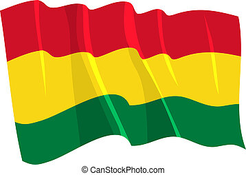 Political waving flag of Bolivia