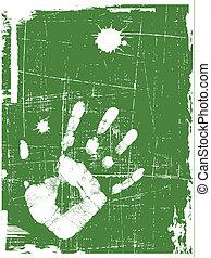 vector grunge green background