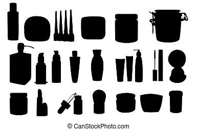Wide range of cosmetic jars