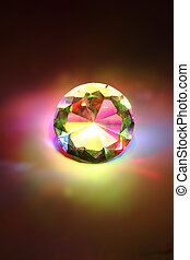 rainbow diamond - nice rainbow diamond in the dark night