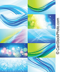 Set of 10 abstract vector backgrounds Eps 10 transparencies...