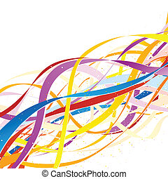 Abstract colorful ribbons.