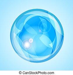 Soap bubbles - Realistic soap bubbles on a blue background