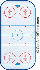 Top view of hockey rinkNo transparencies used Gradient mesh...
