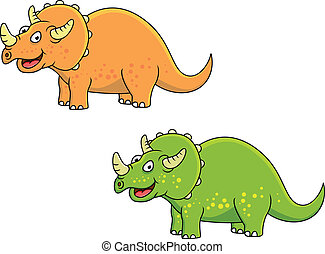 Triceratops  - Vector Illustration of Triceratops