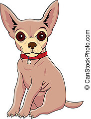 Chihuahua cartoon - Vector Illustration Of Chihuahua cartoon...