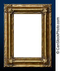 Verticle Picture Frame - Closeup of gold colored vertical...