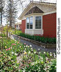 House on the tulip farm
