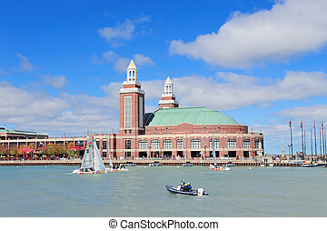 Chicago Navy Pier - CHICAGO, IL - Oct 1: Navy Pier and...