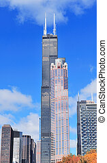 Chicago Willis tower - CHICAGO, IL - Oct 1: Willis tower...
