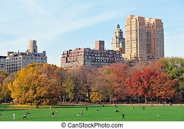 New York City Central Park at autumn