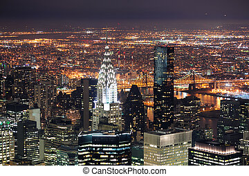 Chrysler Building in Manhattan New York City at night - NEW...
