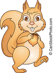 Cute Squirrel - Vector Illustration Of Cute Squirrel